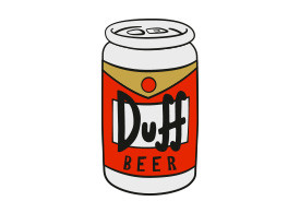 Duff Beer Free Vector Illustration