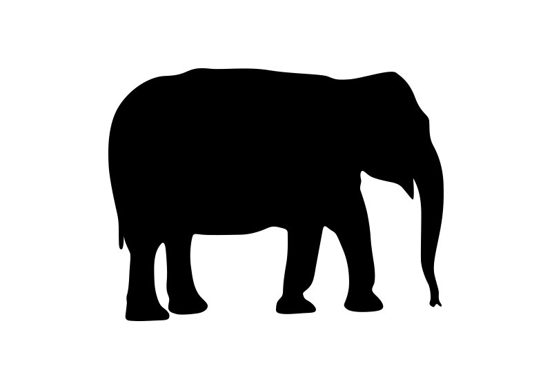 Elephant silhouette - photo#20