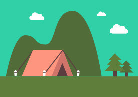 Nature Landscape With Tent