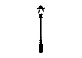 Retro Street Lamp Vector