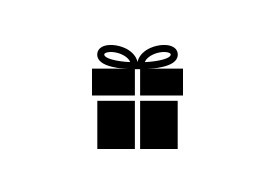 Simple Present Box Vector Icon