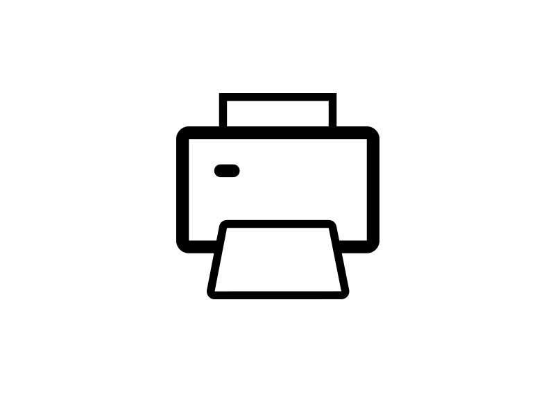 Simple Printer Outline Vector Icon