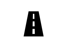 Simple Road Vector Icon