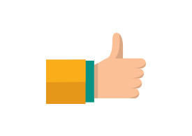 Thumbs Up Flat Vector Icon