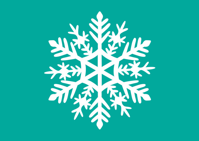 White Snowflake Vector Illustration
