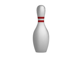 Bowling Skittle Realistic Vector