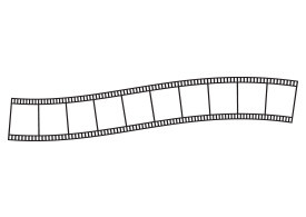 Curvy Film Strip Free Vector