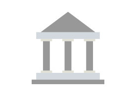 Government Building Flat Vector Icon