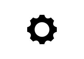 Single Gear Wheel Icon