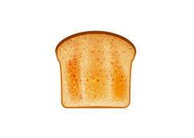 Toast Vector Illustration
