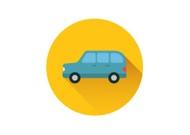 Combi Car Flat Vector Icon
