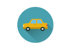Sedan Vehicle Flat Vector Icon