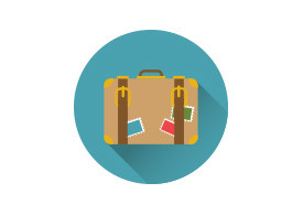 Travel Suitcase Flat Vector Icon