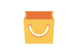 Flat Paper Shopping Bag Vector