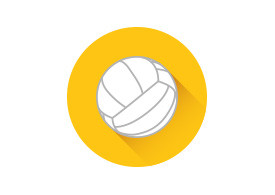 Flat Volleyball Icon