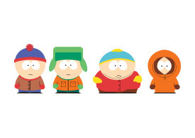South Park Kids Vector