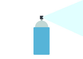 Spray Can Flat Vector