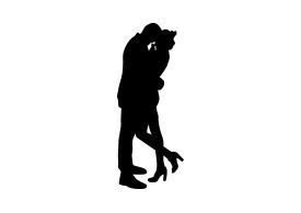Couple Hug Silhouette