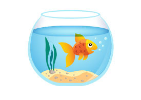 Goldfish Aquarium Free Vector Illustration