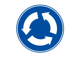 Traffic Roundabout Vector Sign
