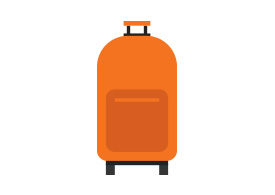 Baggage Suitcase Flat Vector
