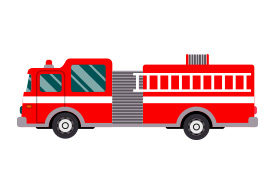Firetruck Free Flat Vector Illustration