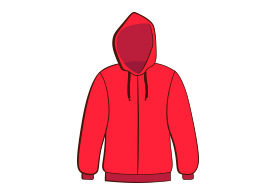 Hoodie Free Vector Illustration