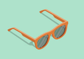Isometric Vector Orange Sunglasses