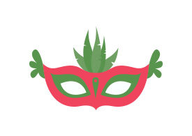 Party Mask Free Flat Vector