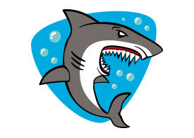 Shark Cartoon Free Vector Illustration