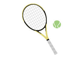 Tennis Racket And Ball Free Vector