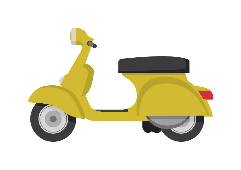 Vintage Scooter Free Vector - SuperAwesomeVectors