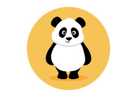 Panda Flat Vector Illustration