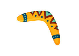 Boomerang Vector Illustration