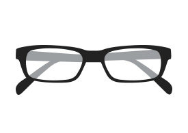 Folded Eyeglasses Vector