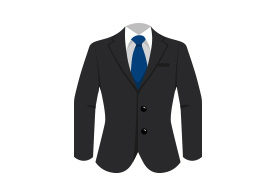 Man Suit With Blue Tie Free Vector