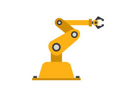 Robotic Arm Industrial Vector