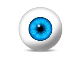Eyeball With Blue Iris