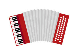Flat Accordion Vector Illustration