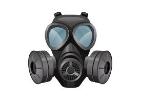 Gas Mask Free Vector Illustration