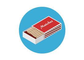 Matches Isometric Vector Illustration