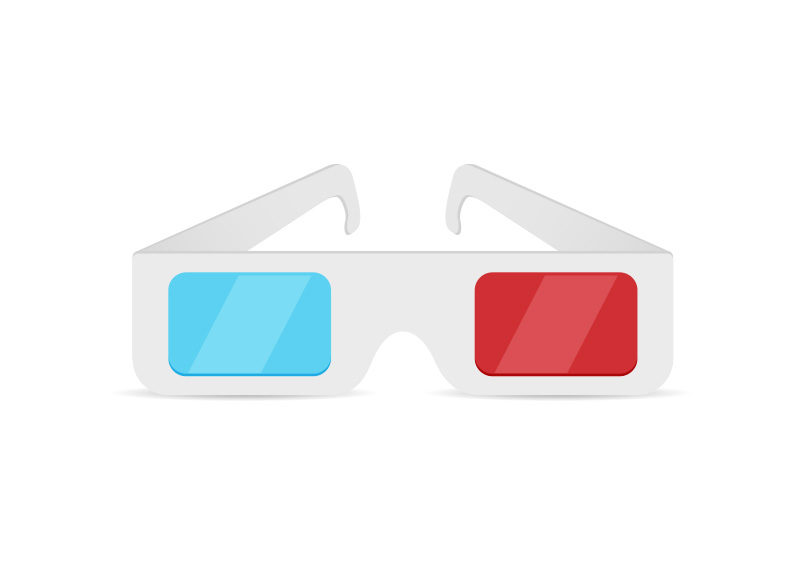 Paper 3d glasses free vector superawesomevectors for 3d sketch online