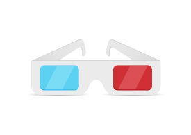 Paper 3D Glasses Free Vector