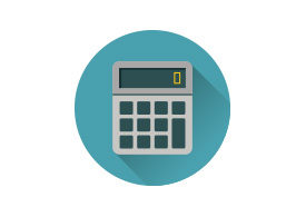 Flat Calculator Vector Icon