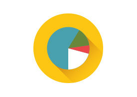 Pie Chart Flat Vector Icon