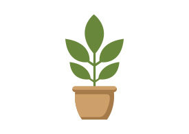 Potted Plant Flat Vector