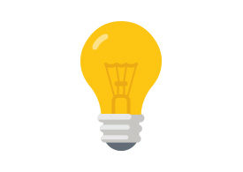 Flat Light Bulb Vector