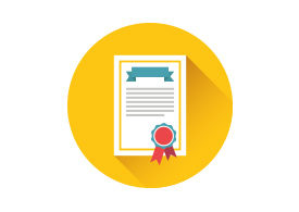 Certificate Flat Vector Icon