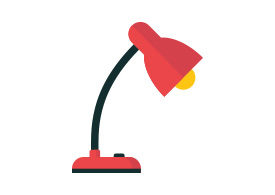 Flat Reading Lamp Free Vector Icon