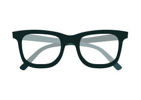 Glasses Free Flat Vector Icon